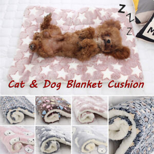 Hot Pet Thicken Blanket Mats Rug Fleece Pad Warm Plush Sofa Cushion Winter S-3XL