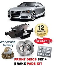 FOR AUDI A5 2.0 COUPE SPORTBACK 2008-> FRONT BRAKE DISCS SET AND DISC PADS KIT