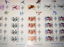 POLAND POLEN 1967 Klb 1761-68 MS 1502-09 Olympics 1968 Mexico Sport Scenes MNH
