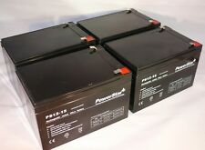 12V 15AH SLA Battery replaces gp12120 ps-12120 wp12-12 gp12110f2 - 4PK