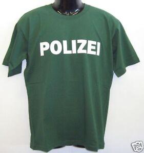 Fun T-Shirt * POLIZEI grün S - XXL