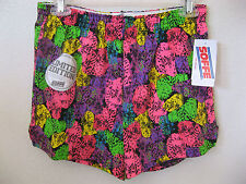 NEW Juniors Shorts Large Limited Edition Bright Multi Athletic Gym Cover Ups L