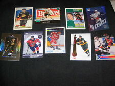 LOT (9) PAVEL BURE NHL STAR LEGEND AUTHENTIC VINTAGE HOCKEY CARDS NICE!!!