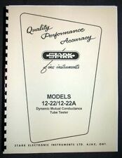 STARK model 12-22 12-22A Tube Tester Manual, Schematic