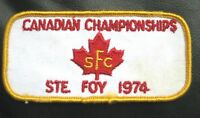 CANADIAN CHAMPIONSHIPS EMBROIDERED SEW ON ONLY PATCH SFC STE FOY 1974 CANADA