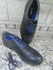 NEW STEVE MADDEN WINGTIP DRESS SHOES MENS 10 STYLE: HARLOW BLACK FREE SHIP