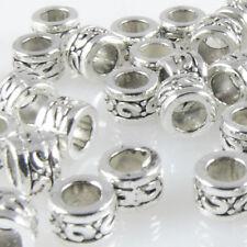 40x Metallperlen Spacer Beads 3,3x5mm Metall Perlen altsilber Metallbeads