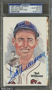 Ted Williams HOF 1981 Perez-Steele #104 Red Sox PSA/DNA Authentic AUTO