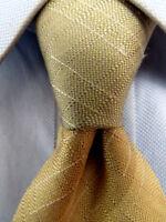 Men's Gianfranco Ferre Beige Silk Tie Made in Italy A25874