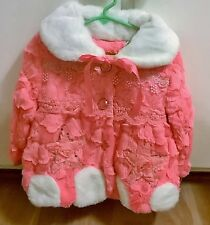 New Girl's size 4-5 faux fur dressy winter coat Holidays! So Cute!