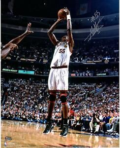 "Dikembe Mutombo Philadelphia 76ers Signed 16"" x 20"" Shoot Over Shaq O'Neal Photo"