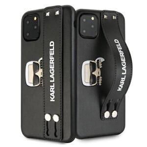 iPhone 11 Pro Max Hülle Karl Lagerfeld Head Hand Strap Case- Schwarz