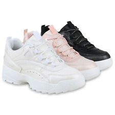 Damen Plateau Sneaker Glitzer Turnschuhe Moderne Plateauschuhe 826162 Schuhe