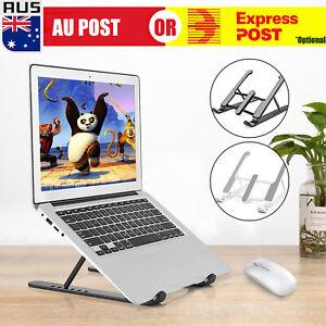 Folding Laptop Stand Portable Tablet Holder Bracket Desktop Adjustable Riser AU