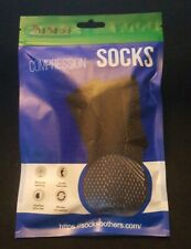 Dr Sock Soothers Compression Socks One Size Seamless Black