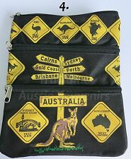 1x Australian Souvenir Travel Bags 3 Zipper Compartments - Australian Road Signs