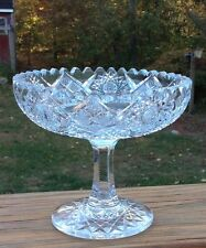 ABP Cut Glass Footed Candy Dish