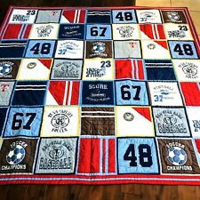 Pottery Barn Kids Varsity Sports Twin Bed Quilt with 2 Standard Shams