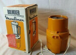 LOT ACCESSOIRE CUISINE Vintage orange BolMixer MOULINEX + Moulinette 26 cook P