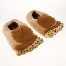 Warm Home Slippers  Big Feet Unisex Savage Monster Plush Indoor Shoes