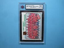 1975/76 TOPPS NHL HOCKEY CARD #87 DETROIT RED WINGS CHECKLIST KSA 10 GEM MINT