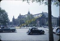 Grand Palais Paris France Street Scene 1950s 35mm Slide Red Border Kodachrome