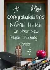 Profesor de música trabajo Tarjeta pidxx2 trabajo felicitaciones A5 tarjeta de felicitación personalizada