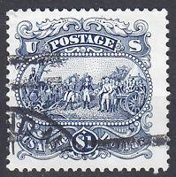 USA Briefmarke gestempelt 1 Dollar US Postage Rundstempel / 1836