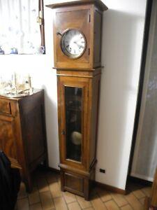 orologio a torre con pendola fine ottocento, altezza cm 220 e carica manuale