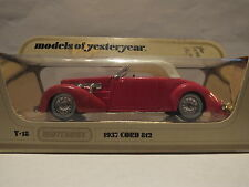 MATCHBOX MODELS OF YESTERYEAR - Y-18 1937 CORD 812