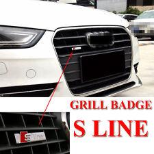 S Line Grill Cromo Mate OME Aleación De Calidad Superior Emblema Insignia Calcomanía Para AUDI Q5 Q7