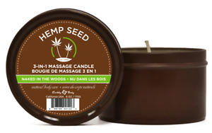 Hemp Seed Massage Candle Oil Moisturizing Sensual Body Care Naked in The Woods