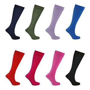 Ladies Wellington Boot Socks Womens Long Gardening Fishing Plain Welly Liner