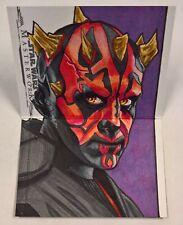 2019 Topps Star Wars Masterwork Sketch Booklet DARTH MAUL by TOM AMICI 1/1