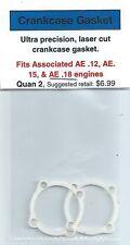 Team Associated AE .12, AE .15 & AE .18 Crankcase Gasket 2 Pack NIP