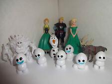 La OLAF congelados fiebre 12 Cake Toppers Y 1 Gratis De Regalo Gratis p+p Nuevo
