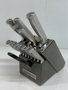 Classic 15-Piece Self-Sharpening Stainless Steel Cutlery Knife and Block Set