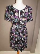Warehouse Viscose Round Neck Floral Dresses for Women