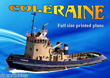 MODEL FIRE FIGHTING TUG BOAT PLAN COLERAINE for  RADIO CONTROL ELECTRIC POWER