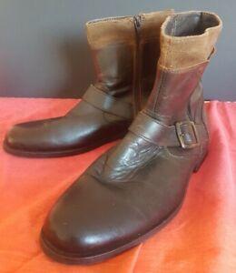 "Maddox Mens Brown Boots Sz 41 - ""Harley""  Preowned"