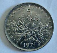 France / Frankreich - 5 Francs - 1971 - Ni - vz+ / xf+