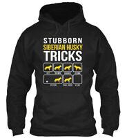 Stubborn Siberian Husky Tricks - Sit Down Shake Come Gildan Hoodie Sweatshirt