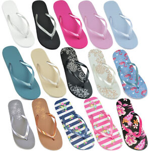 ladies women Girl Beach Flip Flops Jelly Sandals Shoes