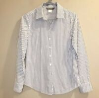 Tommy Bahama Striped Button Front Shirt Women's Size 2