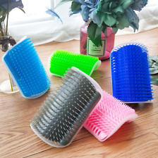 Cat Scratcher Corner Rubbing Comb Pet Hair Removal Massage Brush