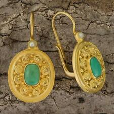 Dhaka Turquoise and Pearl Earrings: Museum of Jewelry