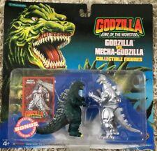 "Godzilla vs. Mecha-Godzilla collectible 4"" figures by Trendmasters new"