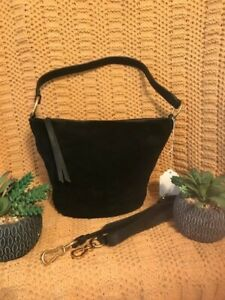 Vince Camuto Leather/Suede Hobo Black