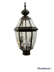 Sea Gull Lighting Lancaster 2 Light Outdoor Post Lantern, Bronze - 8229-71