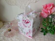 TISSUE BOX COVER made w/RACHEL ASHWELL Simply Shabby Chic Rosalie Rose* Fab NEW!